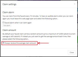 claim settings 2